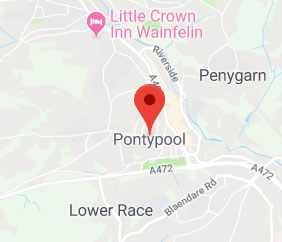 map of Pontypool